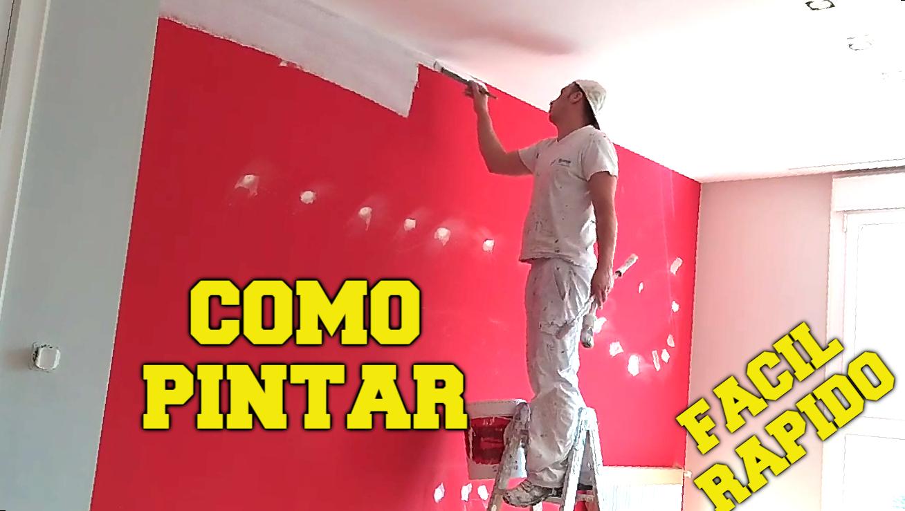 como pintar recto entre pared y techo