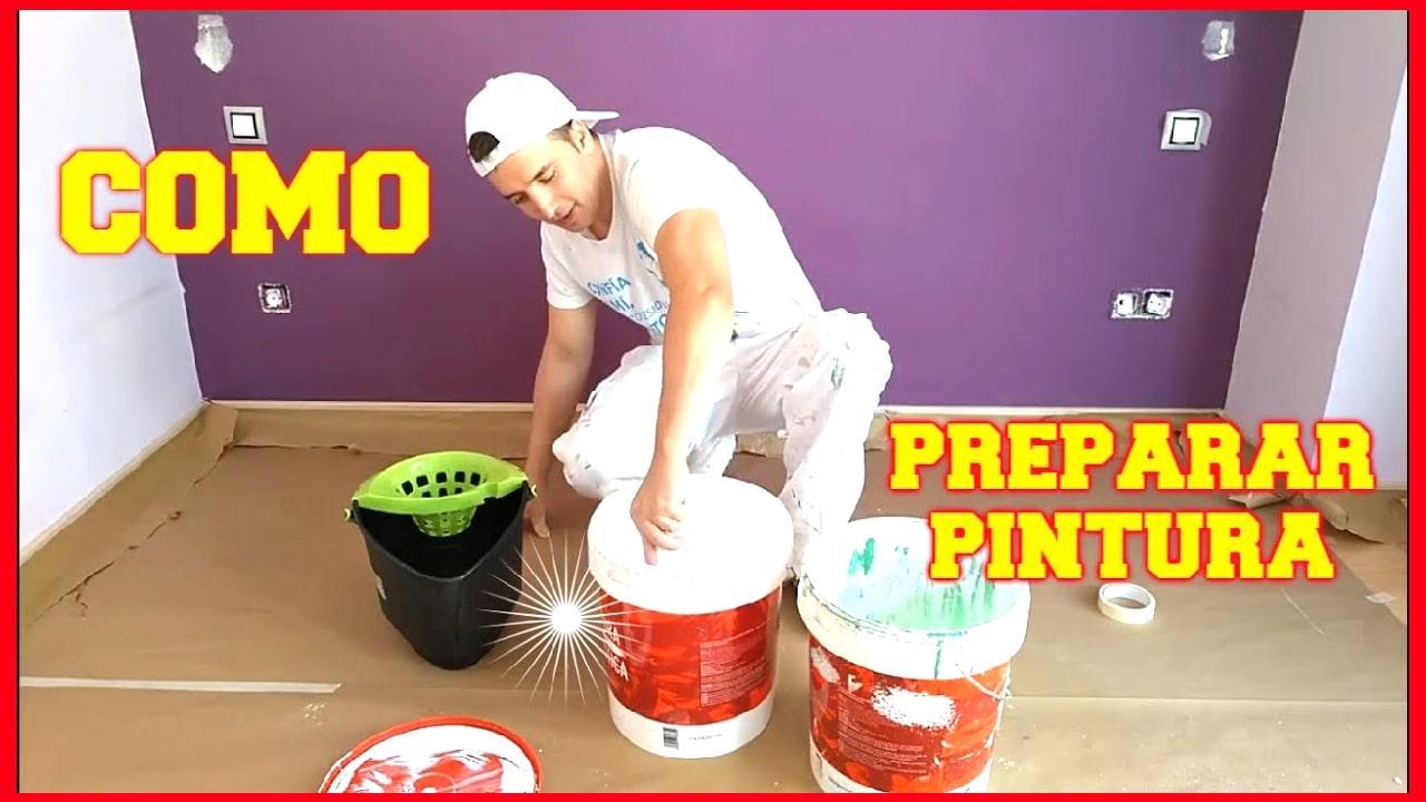 cuanta agua echar a la pintura